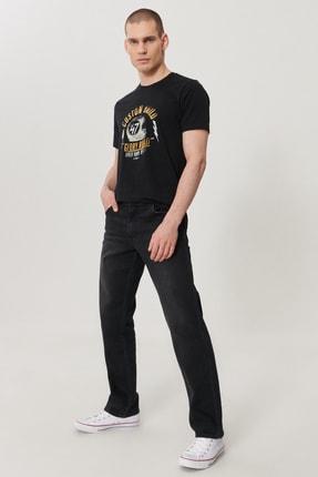 Texas Erkek Koyu Gri Straight Fit Normal Bel Düz Paça Esnek Jean Pantolon W121HT120