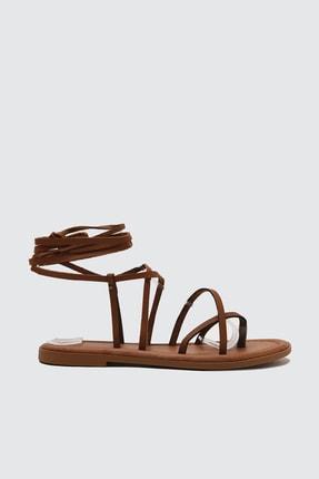 TRENDYOLMİLLA Taba Kadın Sandalet TAKSS21SD0026 1