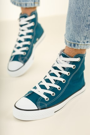 Muggo Unisex Mavi Keten Ayakkabı Mgcrs37 1