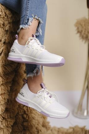 Oksit Infinite Renk Detaylı Fileli Kalın Taban Kadın Sneaker 0