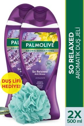 Palmolive Aroma Sensations So Relaxed Aromatik Banyo ve Duş Jeli 500 ml x 2 Adet + Duş Lifi Hediye 0
