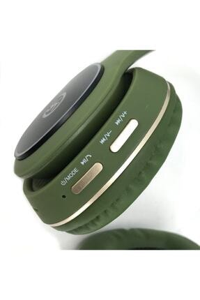 YK Design Rgb Led Işıklı Bluetooth Stereo Kablosuz Kulaklık Yeşil + Sd Kart 3