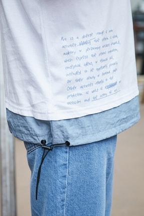 Sateen Men Erkek Beyaz Cepli T-Shirt 2