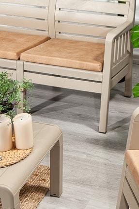 SANDALİE Lara 3 1 1 S Balkon&teras Bahçe Mobilyası / Cappucino 2