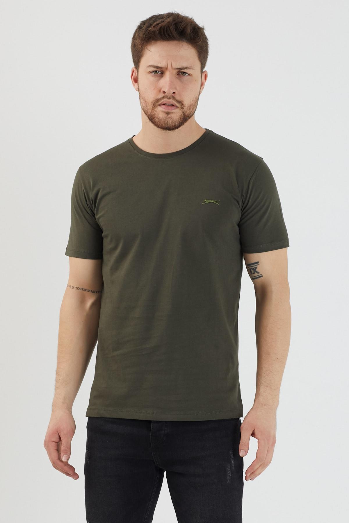 Slazenger SANDER Erkek T-Shirt Haki ST11TE083 0