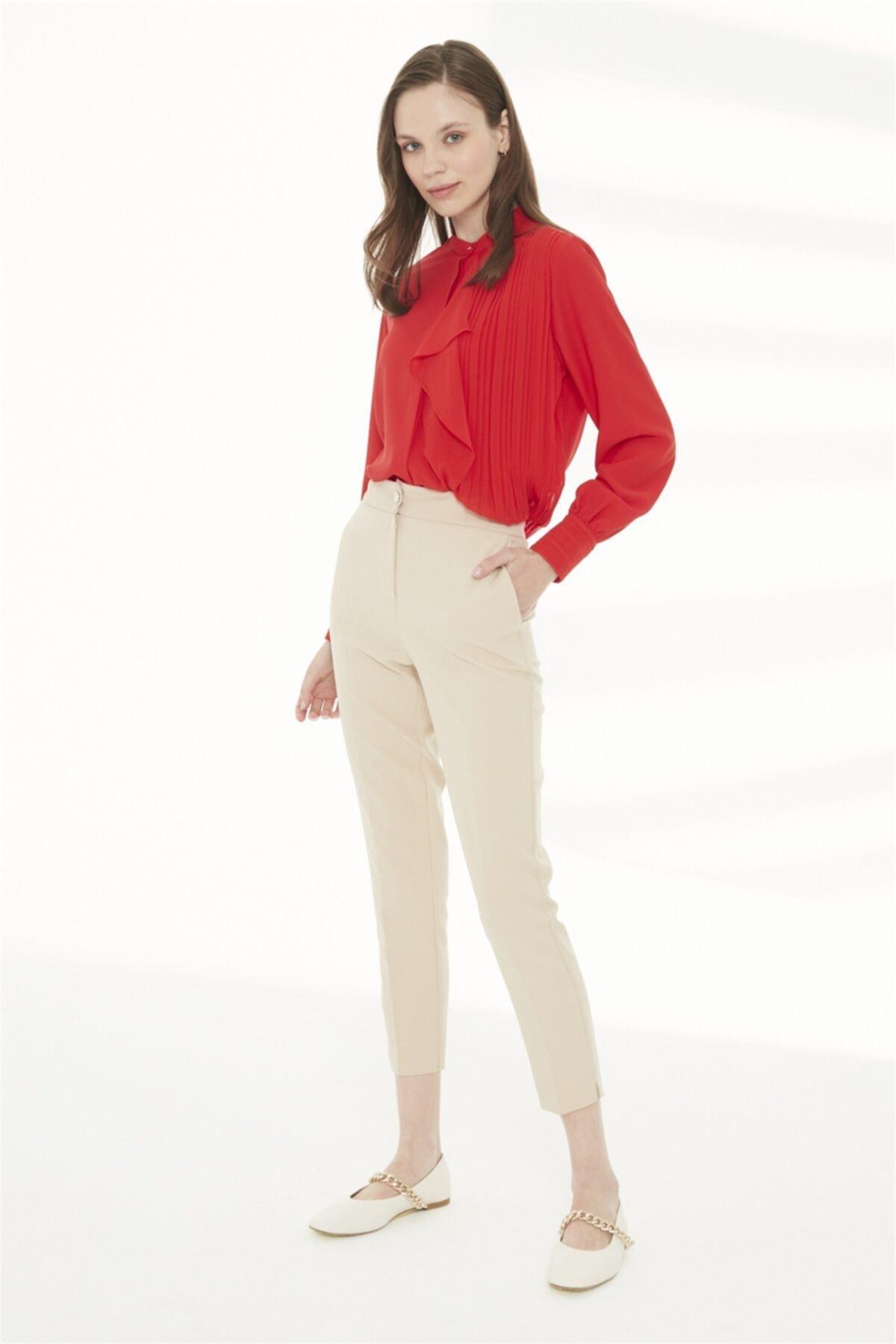 Kadın Bej Pantolon P-0024