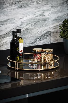Bino Servis Sunum Ikramlık Gold Büyük Lüks Organizer Sofra Mutfak Düzenleyici Pasta Standı 3