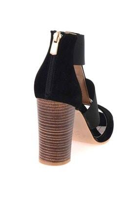 Bambi Siyah Süet Kadın Klasik Topuklu Ayakkabı K01525012272 3