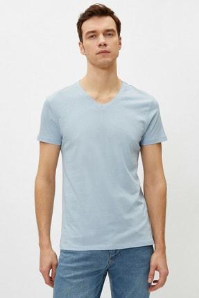 Koton Erkek Açık Mavi T-Shirt 1YAM12138LK 2