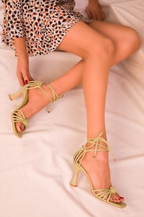 Soho Exclusive Yeşil Kadın Klasik Topuklu Ayakkabı 16195 1