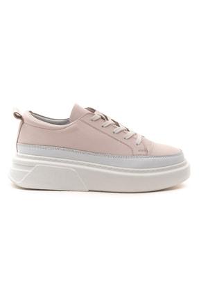 GRADA Pudra Rengi Kalın Tabanlı Hakiki Deri  Sneaker Ayakkabı 1