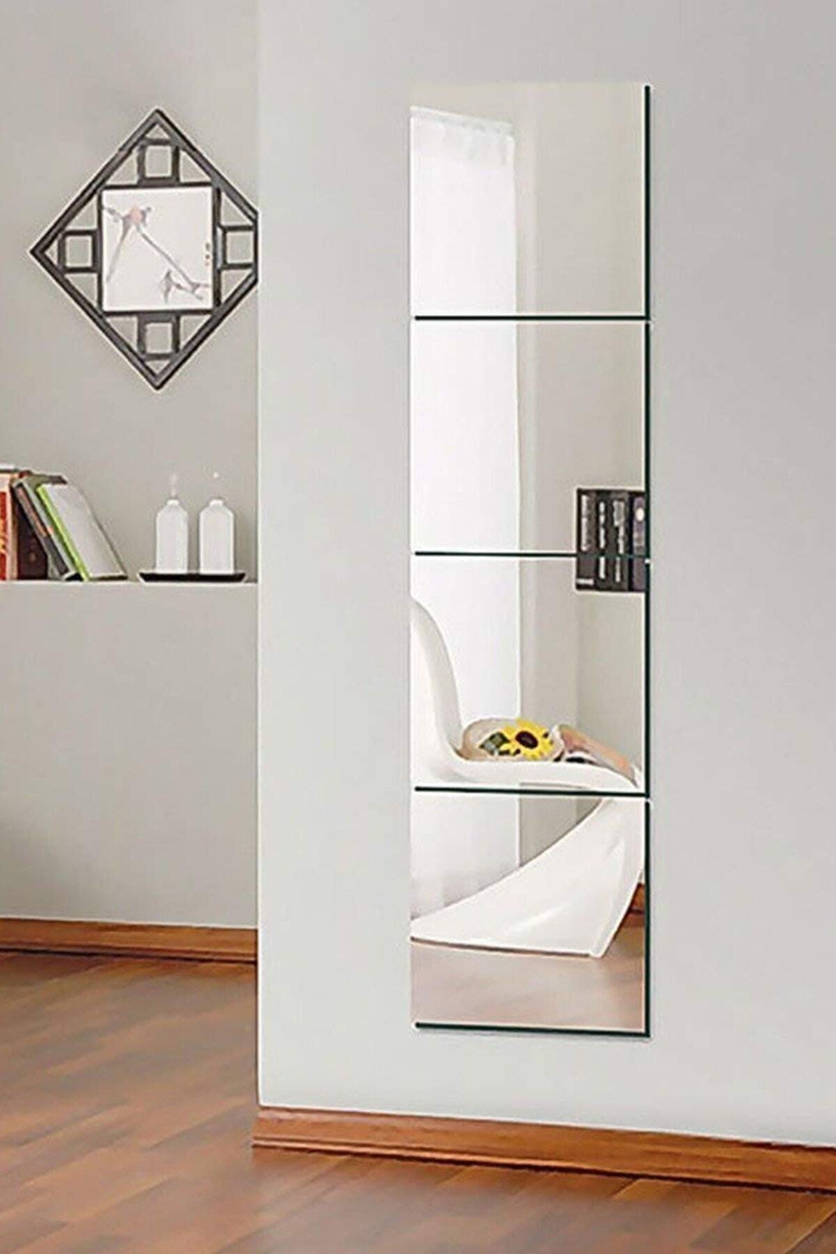 Kare Boy Aynası 4 Parçalı 30x30