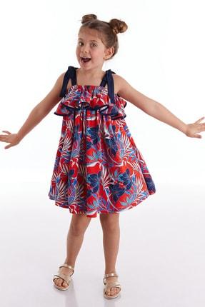 Floral Askılı Kız Elbise resmi