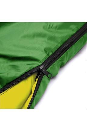 DFT Erciyes Outdoor Çift Kişilik (190+30)x145cm Yeşil -5° Uyku Tulumu Yastıklı 2