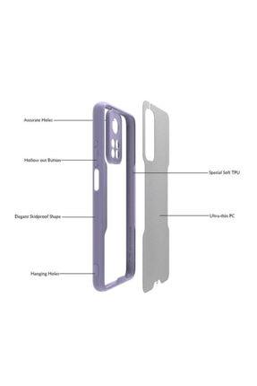 Fibaks Mi 10t 5g Uyumlu Kılıf Kamera Korumalı Renkli Kenar Mat Sırt Ultra Ince Silikon Parfe 2