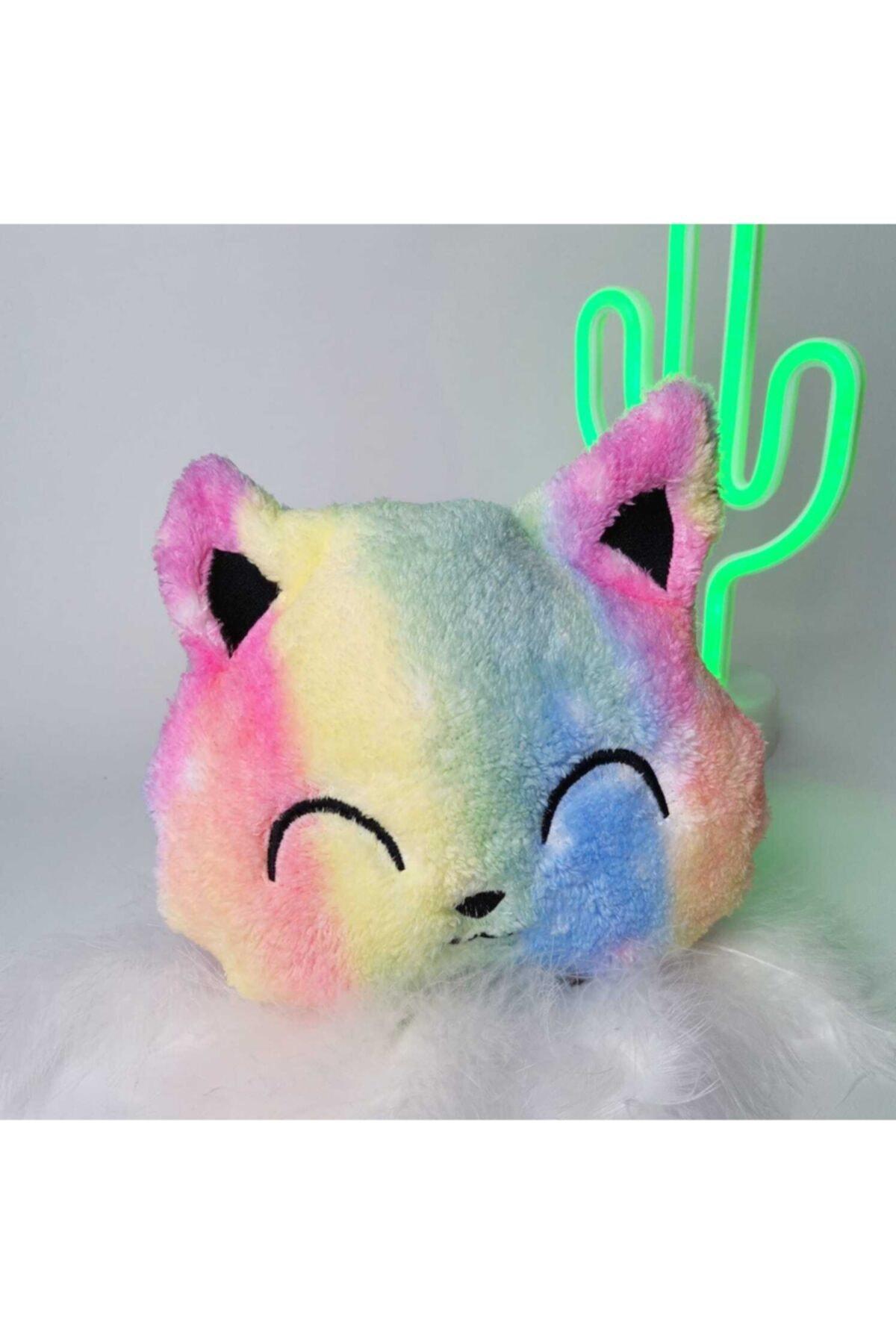 Peluş Kedi Batik Yastık
