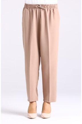 Essah Moda Kadın Vizon Lastikli Havuç Pantolon - Me000276 0