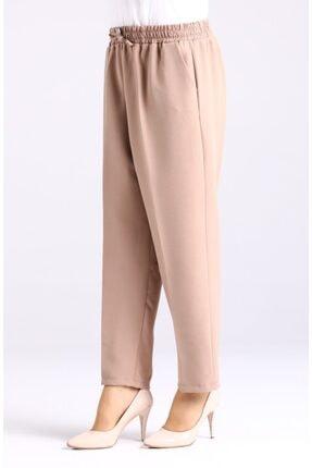 Essah Moda Kadın Vizon Lastikli Havuç Pantolon - Me000276 1