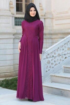 Tesettürlü Abiye Elbise - Fuşya Tesettür Abiye Elbise 2277f