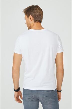 Avva Erkek Beyaz Bisiklet Yaka Düz T-shirt E001000 2