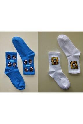 Çoraphane Unisex Karışık Desenli 10 Çift Renkli Kolej Çorabı 4