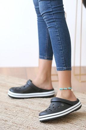 Pembe Potin Unisex Siyah Sandalet 1