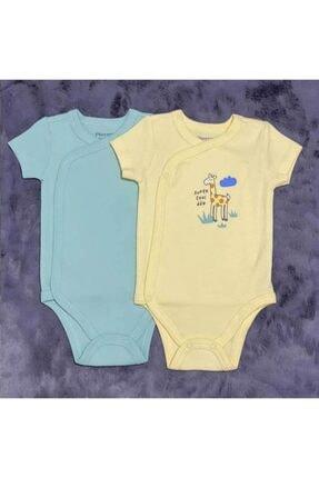 PİEROSBABY Pieros Baby 0014 Erkek Bebek Kısa Kol 2 'li Badi 0