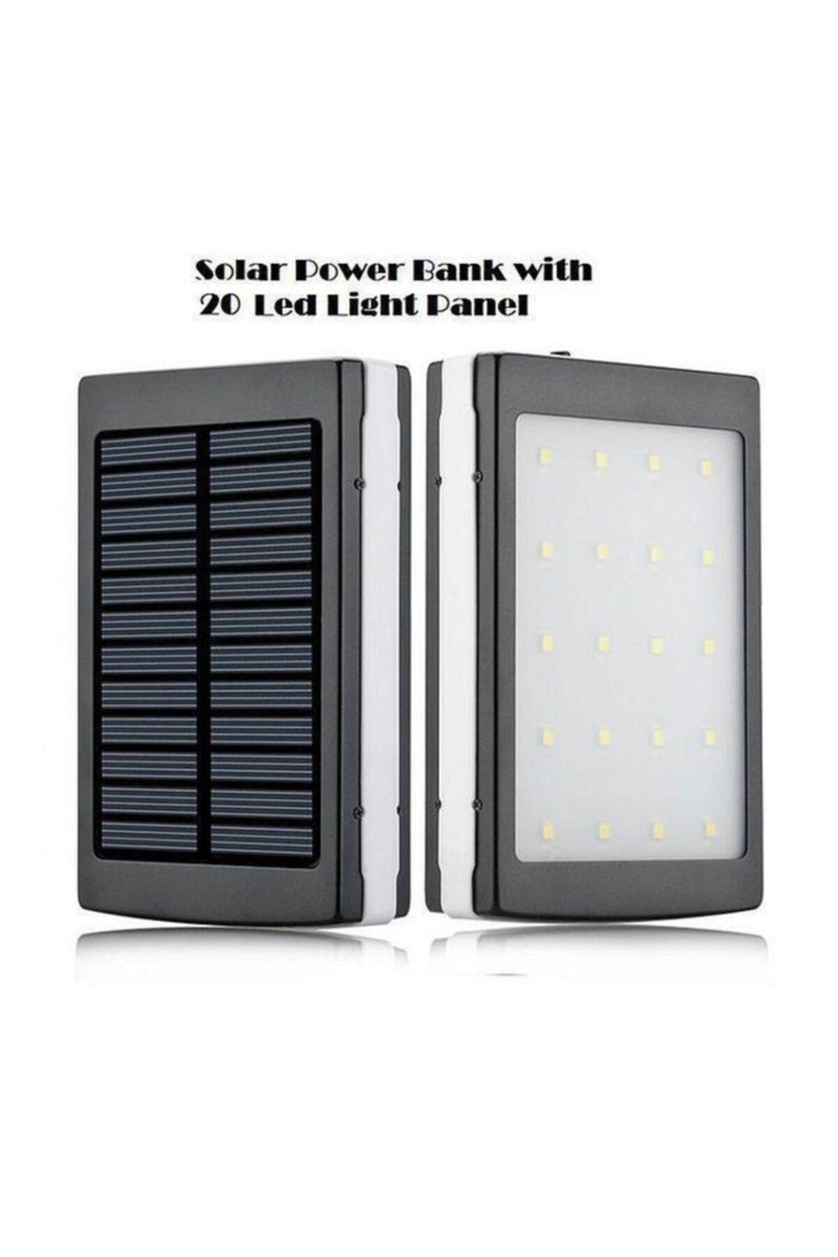 18.000mah 20 Led Işıklı Güneş Enerjili Solar Powerbank