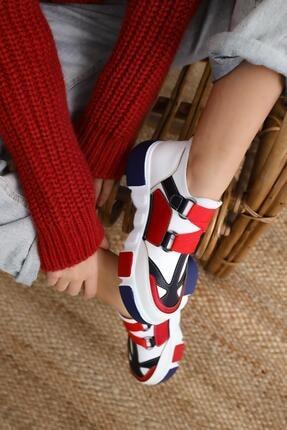 Limoya Lana Deri Kırmızı/beyaz Lastikli Spor Ayakkabı 1