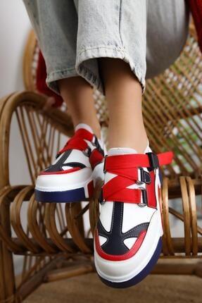 Limoya Lana Deri Kırmızı/beyaz Lastikli Spor Ayakkabı 3