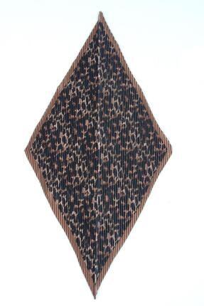 Y-London 13486-1 Leopar Desenli Pliseli Fular 3