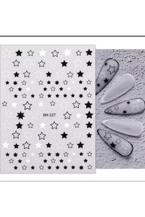 ACCESSORIES WORLD Tırnak Sticker Nail Art Süsleme Yıldız Etiket 0