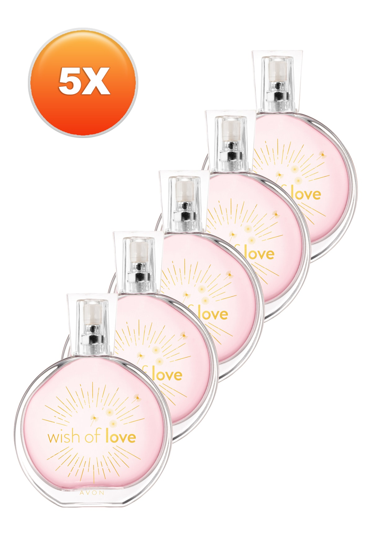 Avon Wish Of Love Kadın Parfüm Edt 50 ml 5'li Set 5050000103398 1