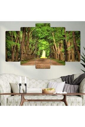 hanhomeart Ağaçlı Yol 5 Parça Mdf Tablo Seti 0