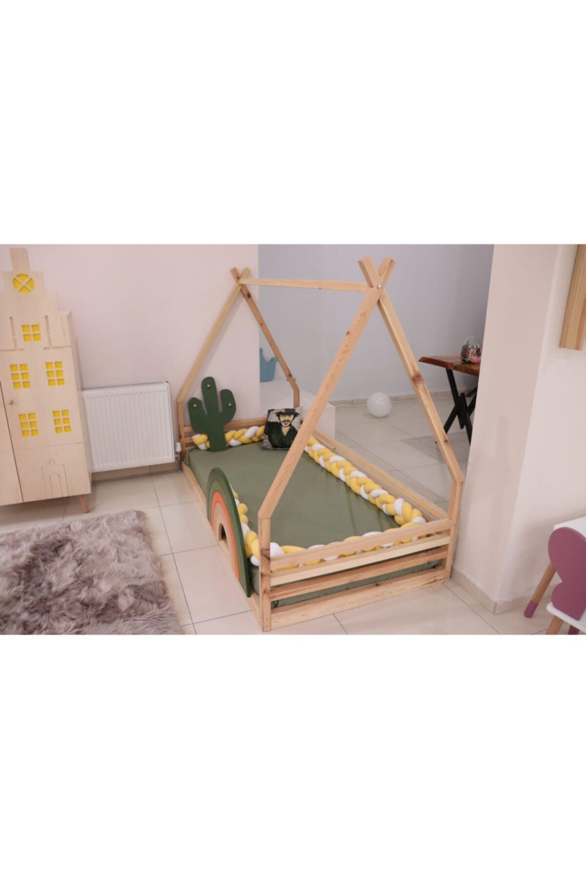 Montessori Yatak (gökkuşağı Yatak Korkuluğu Dahil)