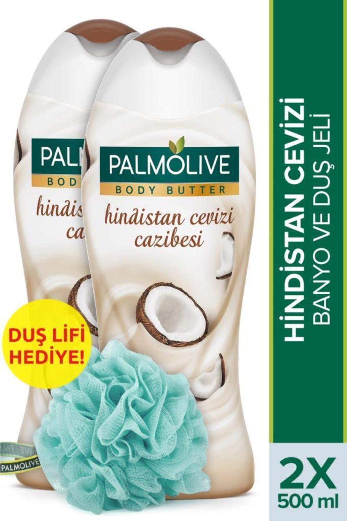Body Butter Hindistan Cevizi Cazibesi Banyo ve Duş Jeli 500 ml x 2 Adet + Duş Lifi Hediye