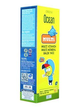 Orzax Ocean Multi Ballı Portakal Aromalı 150 Ml Şurup Multi Vitamin, Multi Mineral, Balık Yağı 0