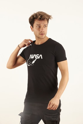 TRICKO Erkek Siyah Baskılı T-shirt 2