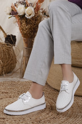 Odal Shoes Kadın White Rose Casual Ayakkabı 0