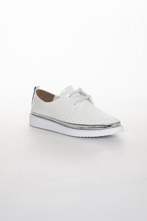 Odal Shoes Kadın White Rose Casual Ayakkabı 1