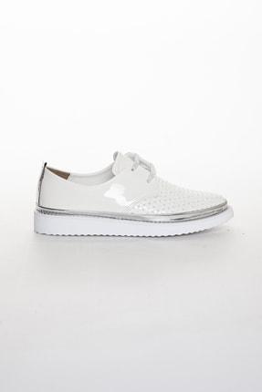 Odal Shoes Kadın White Rose Casual Ayakkabı 2