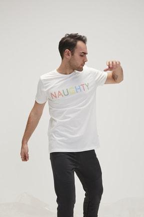 Bad Bear Erkek Beyaz Tişört Naughty Tee Spor T-Shirt 2