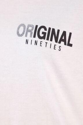 Lukas Beyaz Yazılı Duble Kol Tişört 2