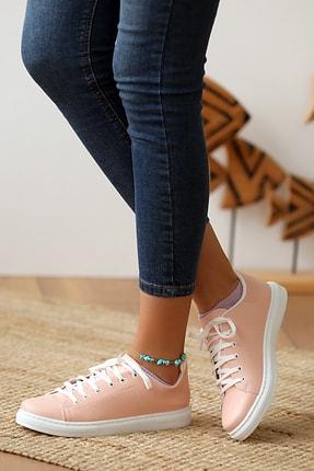 Pembe Potin Kadın Pudra Casual Ayakkabı 1