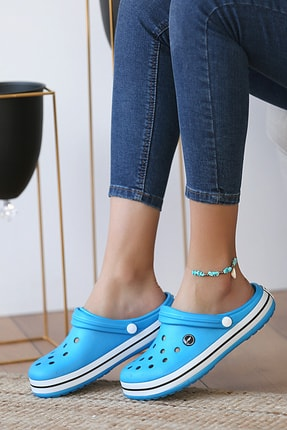 Pembe Potin Unisex Mavi Sandalet 2
