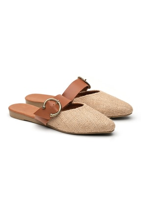 OCT Shoes Hasır Tokalı Kadın Terlik Ts1043 0