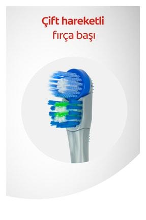 Colgate 360 Pilli Optik Beyaz Platinum Beyazlatıcı Yumuşak Diş Fırçası Yedek Başlık 1+1 3