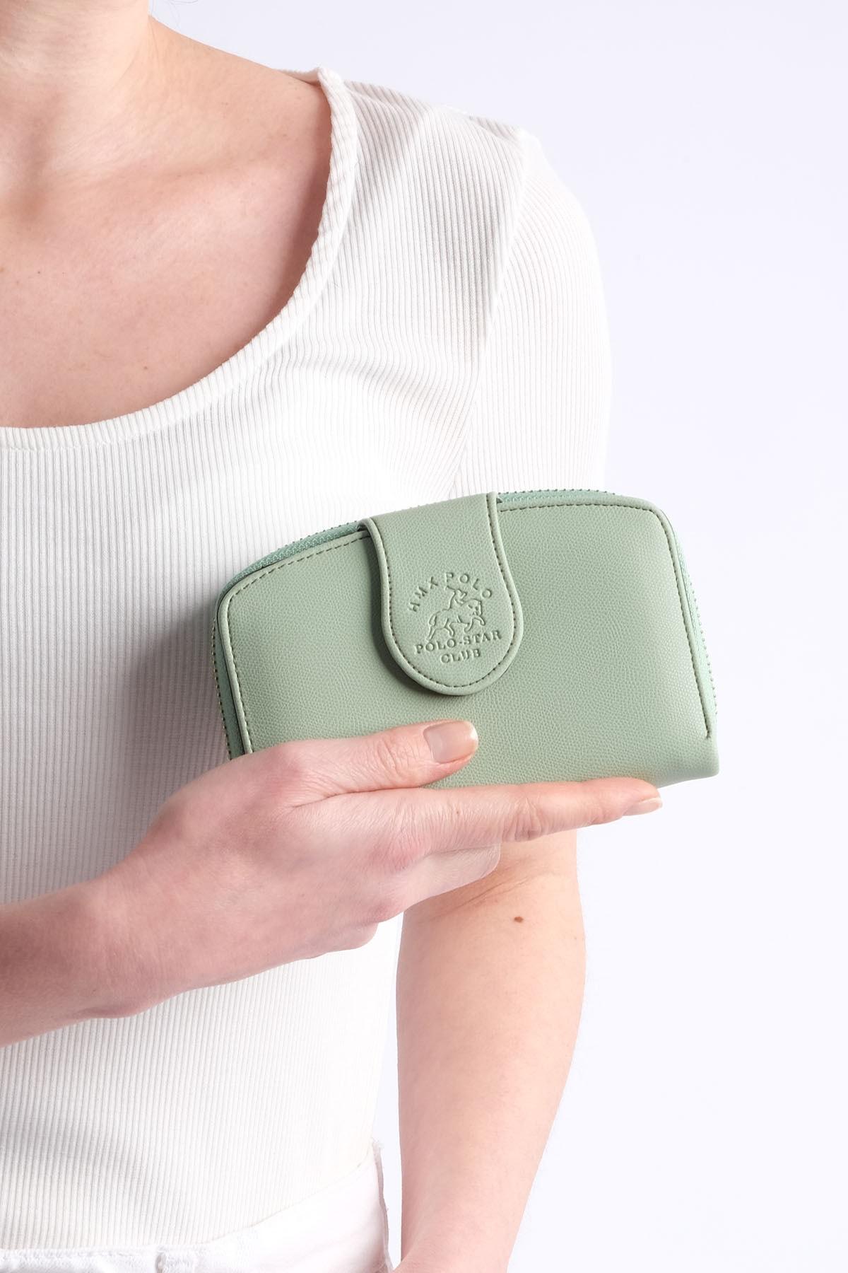 Marjin Kadın Yeşil Telefon Bölmeli Cüzdan Forita