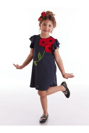Çiçekler Puantiyeli Kız Elbise resmi