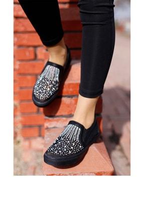 Guja Kadın Siyah Taşlı Spor Ayakkabı 0